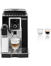 Delonghi Fully Automatic Magnifica Smart Espresso and Cappuccino Maker ECAM23260SB with Two Double Walled Espresso Glasses