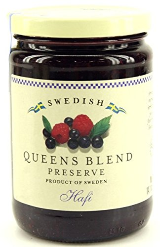 Hafi Queens Blend: Raspberry & Wild Blueberry Preserves 14.1-ounce Jar