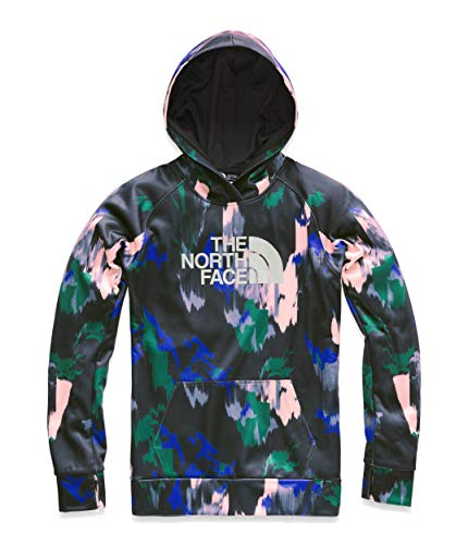 The North Face Women's Fave Half Dome Pullover 2.0 Dazzling Blue Painted Feather Print/High-Rise Grey Large