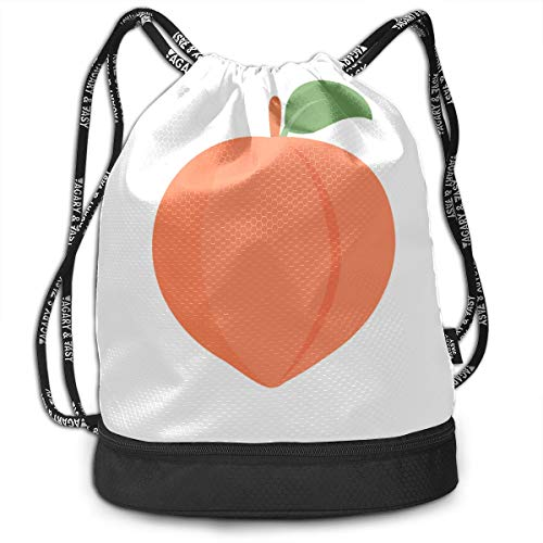 Gym Toiletry Bag Colorful Food Eat Fruit Peach Cartoon Gym Drawstring Bags Backpack Sports String Bundle Backpack For Sport With Shoe Pocket Gym Toiletry Bag For Women from Yiayen