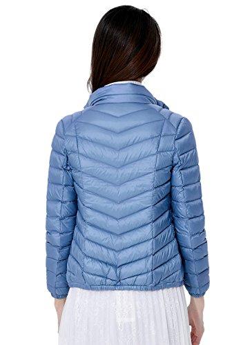 Calentar Santimon Packable Grueso Claro Disponibles Las Ligero Del Abajo Colores Chaqueta De Soporte Azul Mujeres Abajo Collar Más 9 Capa fvfFnHr