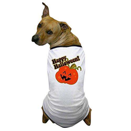 CafePress - Halloween Jack O Lantern Dog T-Shirt - Dog T-Shirt, Pet Clothing, Funny Dog Costume
