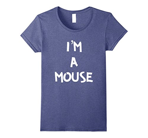 Quick Easy Halloween Costumes For Women (Womens I'm A Mouse Quick Halloween Costume T Shirt XL Heather Blue)