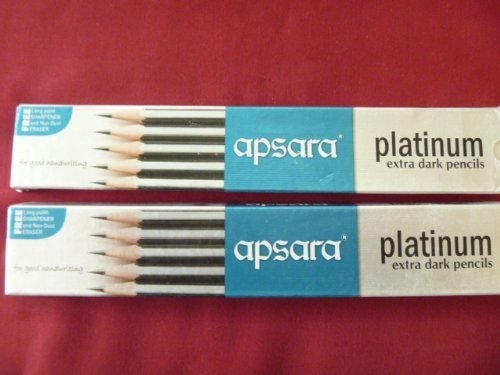 4 X 20 Apsara Extra Dark School Wooden Pencil Hb Black + 2 Sharpener + 2 Erasers Lot