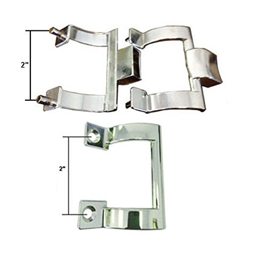 Chrome Shower Door Towel Bar Brackets and Inside Handle Pull Kit, 2