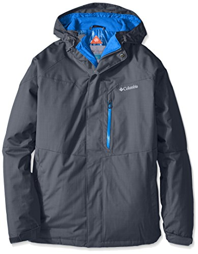 Columbia Standard Men's Alpine Action Winter Jacket, Waterproof & Breathable, Graphite, Super Blue, X-Large