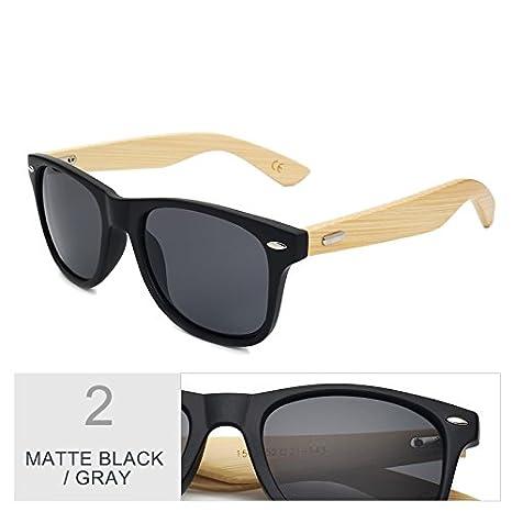 TL-Sunglasses Vero legno di bambù Occhiali da sole da uomo di colore Occhiali a specchio donne,MBlack argento