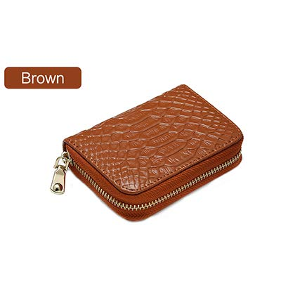 Amazon.com: Fishion Alligator Women Credit Card Holder Cow ...