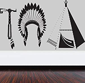 Walliv Decals Red Indian Tools Islamic Wall Arts [hg33]