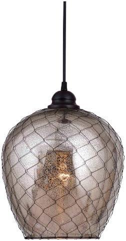 Kenroy Home 93038AMER Nillo 1-Light Pendant, Blackened Oil Rubbed Bronze