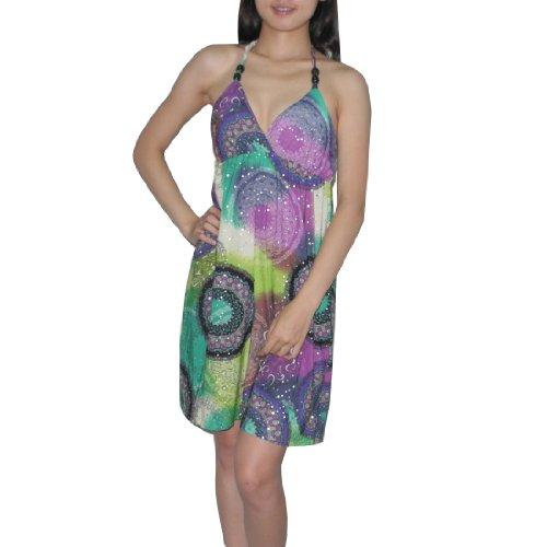 Unknown - Robe -  Femme -  Multicolore - Multicolore - Large