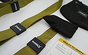 Home Gym Bodyweight Resistance Straps Workouts for Home — HOME-X Fitness Bands Kit with Door Anchor: Exercise Equipment to Lose Weight, Burn Fat, Get Lean, Full Body Workout for Home & Travel from SAQEX