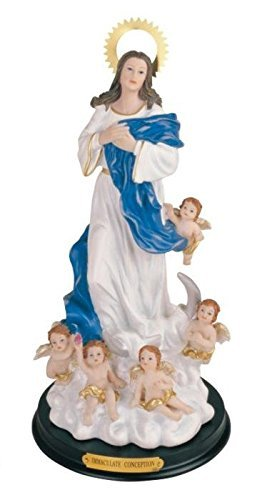 12 Inch Immaculate Conception Virgin Mary Angels Holy Figurine Decor
