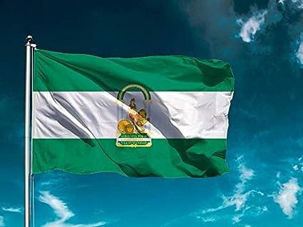 G Bandera El Ejido Medidas 150cm x 85cm F/ácil colocaci/ón Decoraci/ón Exteriores 1 Unidad