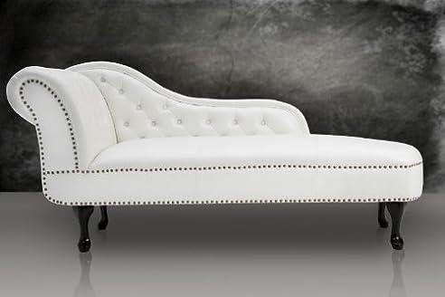 Recamiere chaiselongue  Chesterfield Recamiere / Chaiselongue Weiss aus dem Hause Casa ...
