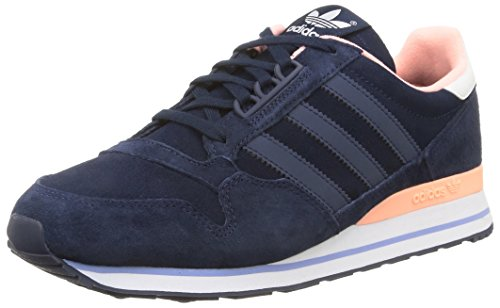 adidas OriginalsZX 500 - Zapatillas Mujer Azul - Blau (Night Indigo/Night Indigo/Light Flash Orange S15)