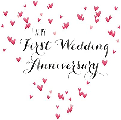 First Wedding Anniversary.Claire Giles Quill Happy First Wedding Anniversary Anniversary Card