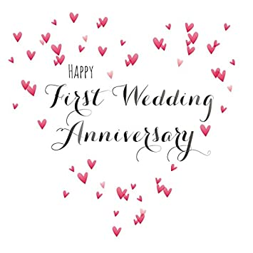 Claire Giles Quill Happy First Wedding Anniversary Anniversary Card