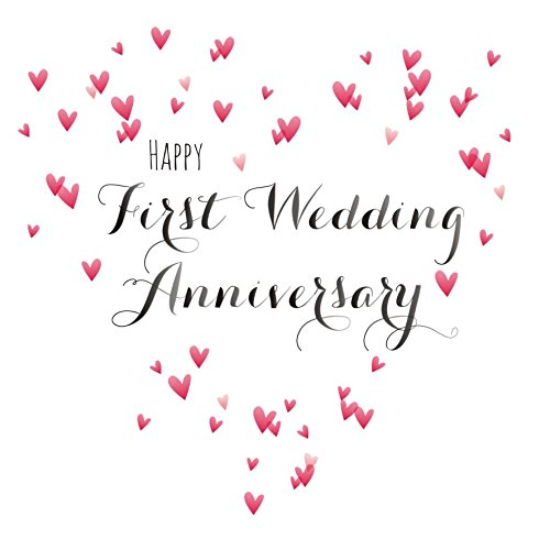 First Wedding Anniversary.Amazon Com Claire Giles Quill Happy First Wedding Anniversary