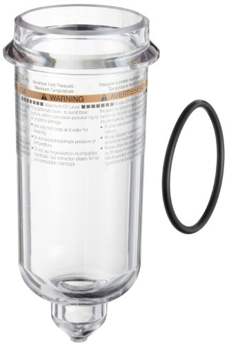 Parker PS846P Polycarbonate Bowl with No Drain for 17L and 07L Series Lubricator, 4.9oz and 6oz Capacity, 150 psig by Parker