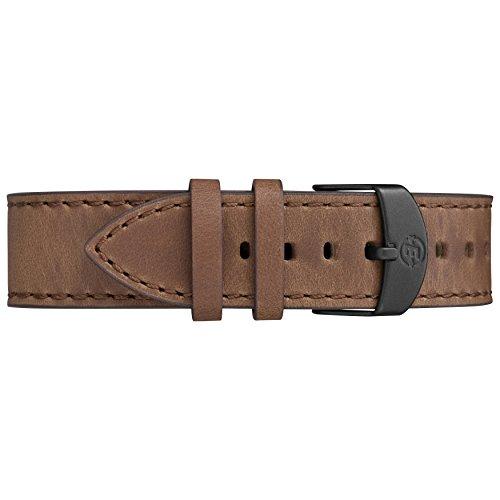 Timex Men's TW4B10700 Expedition Ranger Brown/Gunmetal/Blue Leather Strap Watch