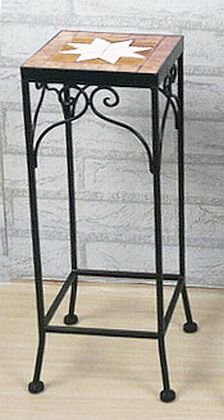 DanDiBo Sgabello fiori Merano Mosaico 12012 Porta fiori 46 cm Sgabello angolare Tavolinetto-comodino