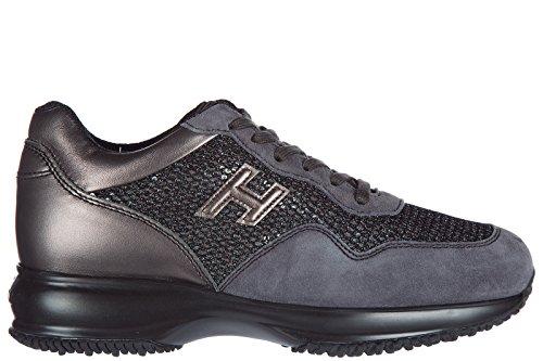 Hogan Scarpe Da Donna Sneakers Da Uomo In Suede Grigio Interattivo