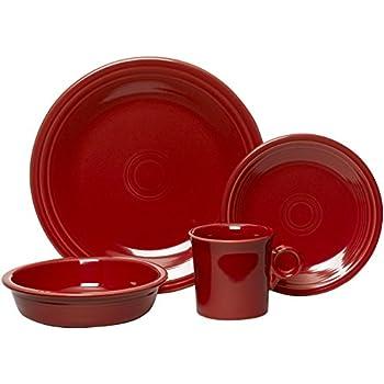 Fiesta 16-Piece Service for 4 Dinnerware Set Scarlet  sc 1 st  Amazon.com & Amazon.com | Fiesta 16-Piece Service for 4 Dinnerware Set Scarlet ...