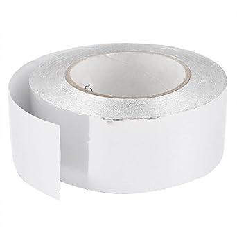 50mm x 50m del Rollo del Papel de aluminio Calefacción Duct adhesivo de sellado de la