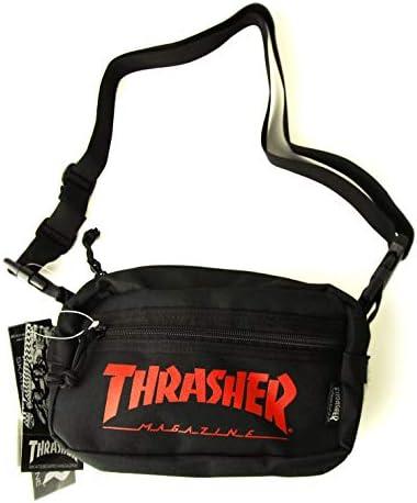 Magazine(スラッシャー)小物バッグ ポーチ ミニショルダー Mini Shoulder Bag Black×Red(ブラック×レッド)
