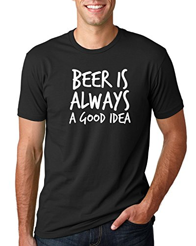 Mens Funny Beer T Shirt Beer Is Always A Good Idea Black Shirt