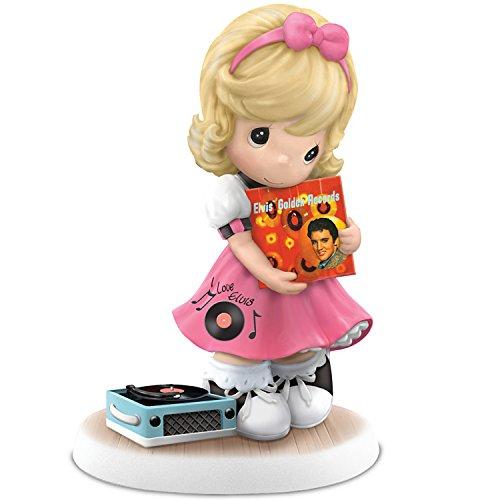 The Hamilton Collection Precious Moments I'll Never Let You Go Elvis Fan Figurine Shows Elvis Album Art