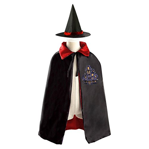 Haunted house Halloween Magic Cosplay Costume Witch Wizard Cloak Cap Craze Hat (Teenage Girl Werewolf Costumes)