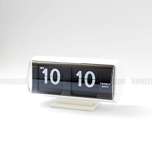 Giant Flip Clock - Homeloo Twemco Retro Modern Germany Quartz Flip Clock Qt30t (white)