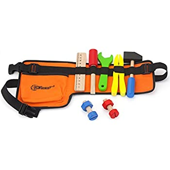 .com: black & decker junior 14 piece toy tool belt set: toys ...