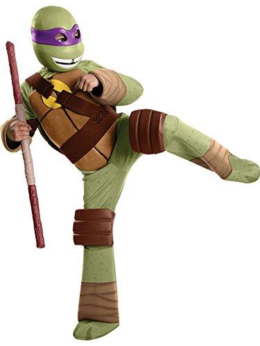 Teenage Mutant Ninja Turtles Donatello Deluxe Boys Costume, Green, Small