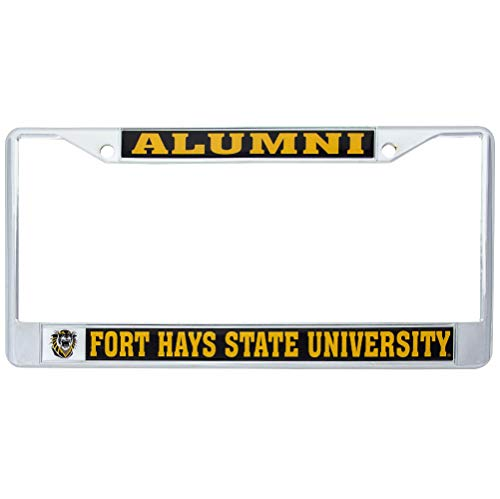 Desert Cactus Fort Hays State University Tigers Metal License Plate Frame for Front Back of Car Officially Licensed (Alumni)