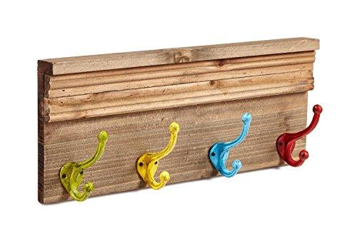 AdirHome Coat Hooks - Hat Hooks - Towel Hooks (Colorful Kids)
