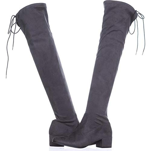 Chinese Laundry Womens Mystical Suede Closed Toe Knee High, Gunmetal, Size 7.0