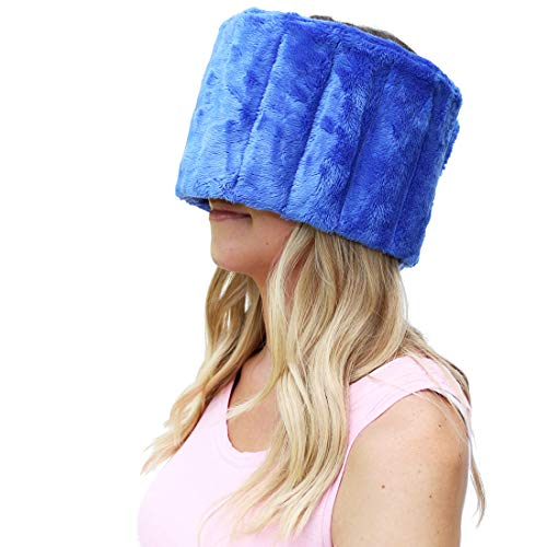 Huggaroo Plush Ice Pack | Velcro Patch and Included Extension Piece Allow Use as Head Wrap, Face Mask, Eye Mask, Sleep Mask, or Jaw -
