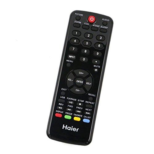 HTR-D09B Remote Control for Haier TV LE22D3380 LE22D3380A LE24C3320A LE29F2320 L32A2120 L39B2180C L39B2180D LE39D2380 LE42D2380 LE46A2280 L50B2180 L50B2180A LE50F2280 LE50F2280A LE55B1381C (Tv Haier Control Remote)