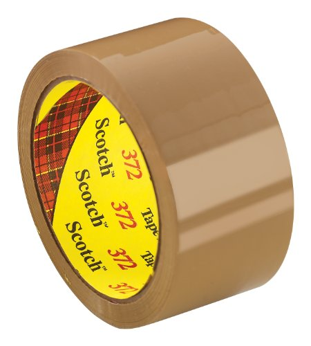 Scotch Box Sealing Tape 372 Tan, 48 mm x 50 m (Case of 36)