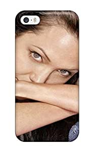 Iphone 5/5s Hard Back With Bumper Silicone Gel Tpu Case Cover Women Angelina Jolie People Women
