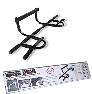 Maximum Fitness Gear All-In-One Doorway Chin-Up Bar with Ab Exercise Guide from Maximum Fitness Gear