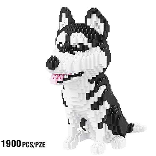 - SXPC Siberian Husky Dog Animal Pet 3D Model 1900 pcs DIY Diamond Mini Building Nano Bricks Blocks Assembly Toy