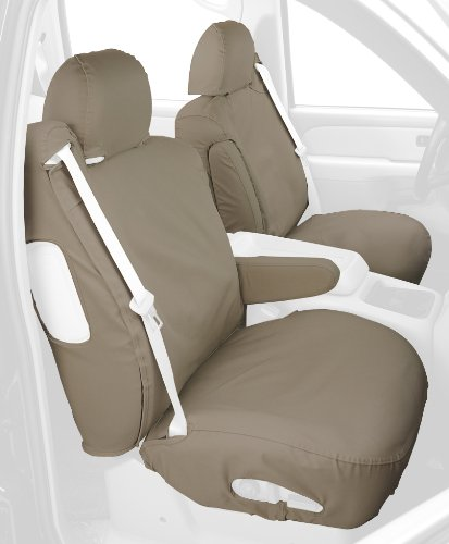 Covercraft SS3301PCSA Custom-Fit Front Bucket SeatSaver Seat Covers - Polycotton Fabric, Sand ()