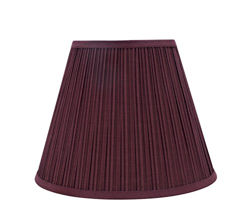 Aspen Creative 33052 Transitional Pleated Empire Shaped Spider Construction Lamp Shade in Burgundy, 13