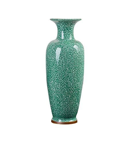 Blaues und weißes Porzellan Emaille Crack Glasur Antique Boden große Vase Klassische Moderne Wohnzimmer Dressing Dekoration Jingdezhen B07G757VZ7 Vasen