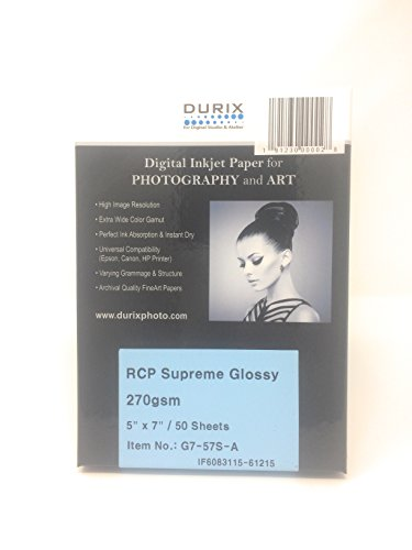 Inkjet Glossy Heavyweight (RCP Supreme Glossy 270gsm Digital Inkjet Paper for Photography and Art (5-x-7))
