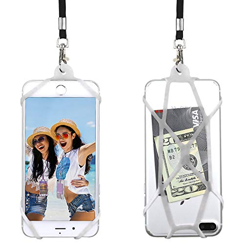 Lanyard Holder Neck - Gear Beast Universal Web Cell Phone Lanyard Compatible with iPhone, Galaxy & Most Smartphones, Includes Phone Case Holder,Neck Strap